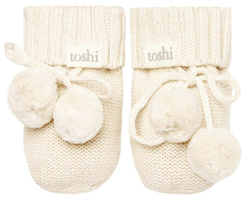 Organic Booties Marley Cream