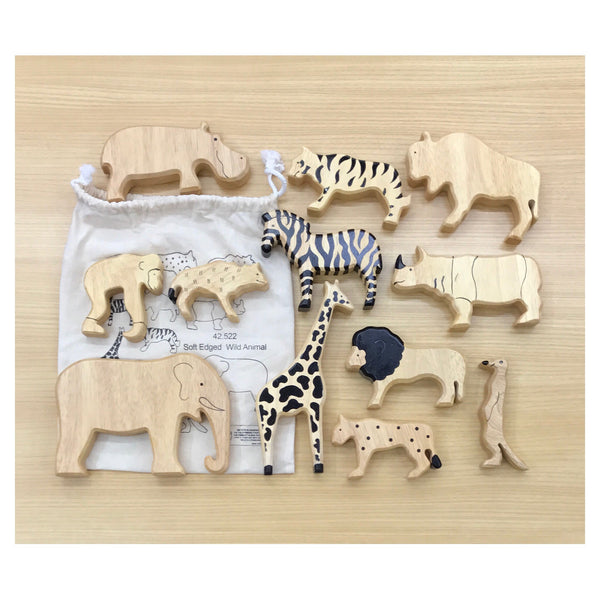 Soft Edge Timber Animals - Wild