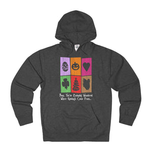 """Holiday Doors""A Unisex French Terry Hoodie"