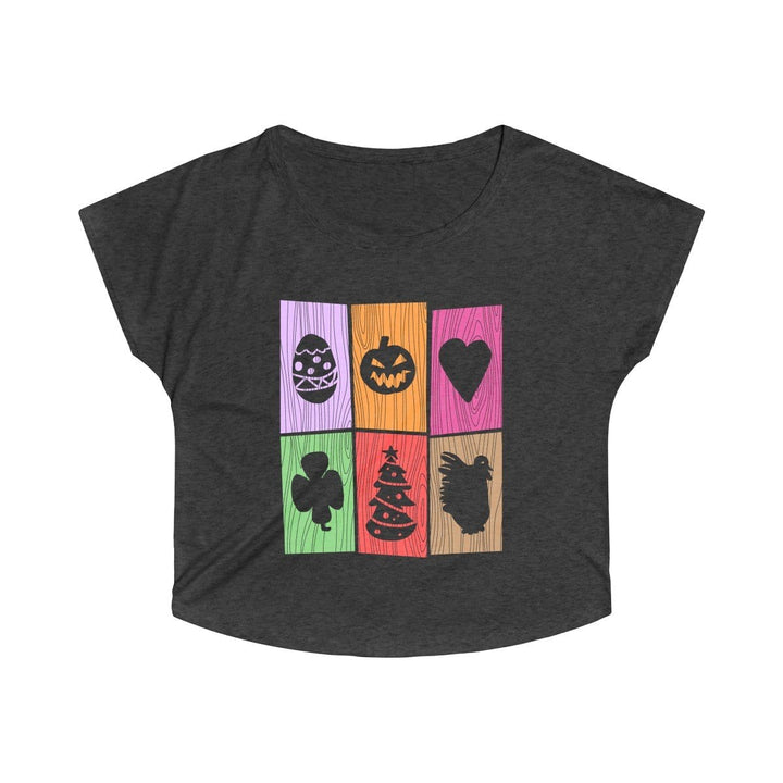Holiday Doors (Women's Tri-Blend Dolman)