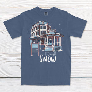 """I Smell Snow"" Comfort Colors Tee (Short Sleeve)"