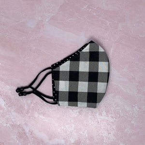 Black & White Polka Dot Reversible Face Mask