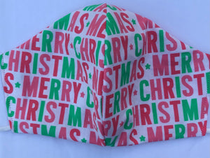 Merry Christmas Reversible Face Mask
