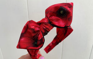 Red Flowers Hairband