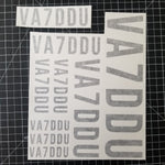 Call Sign Decal Sheet