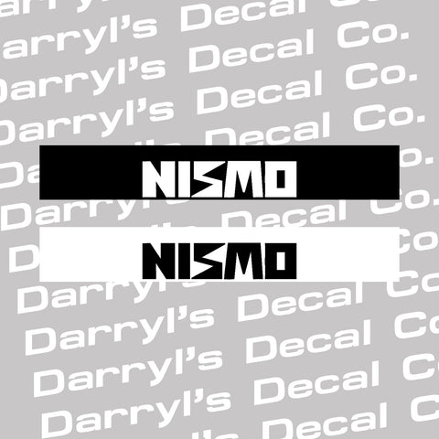 NISMO Windshield Banner