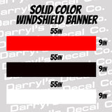 Solid Color Windshield Banner