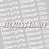 Reckless Family Banner