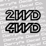 2WD or 4WD Vanagon Decals