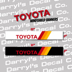Toyota Windshield Banner