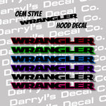 WRANGLER Hood Graphic