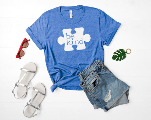 Be Kind Autism Awareness Shirt, Puzzle Piece T-shirt