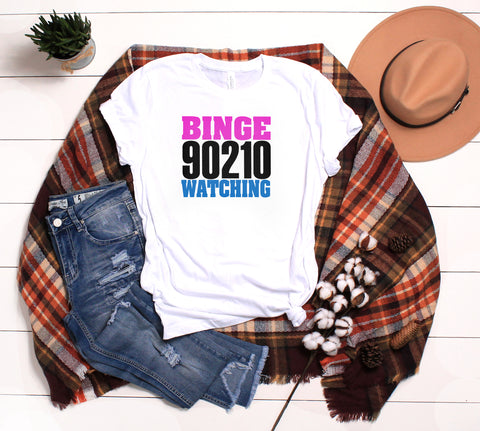 90210 Binge Watching Shirt, Beverly Hills 90210 Marathon