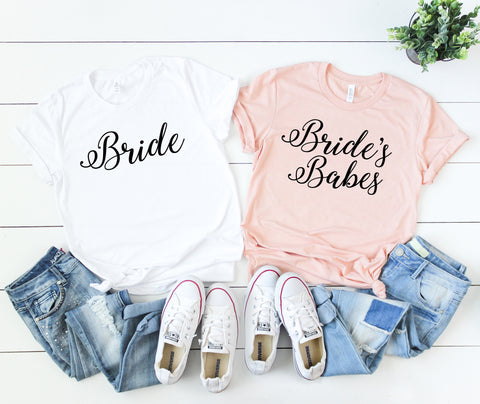 Bachelorette Party Shirt, Brides Babes Shirt, Babe of Honor Shirt, Bride Shirt, Bridesmaid Gift, Bridesmaid Shirt,