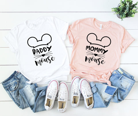Daddy Mouse, Mommy Mouse, Brother Mouse, Sister Mouse, Matching Family Vacation Shirts