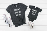 I Put My Babe Up On My Hip, When I Dip,  We Dip You Dip Funny Mommy & Me T-shirts Matching Set