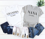 Grandma Established Shirt,  Nana Shirt, Mother's Day Gift, Gift for Mom, Gift for Her, Gift for Grandma, Gift For Nana, Godmother Gift