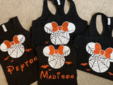Glitter Matching Family Halloween Shirts, Not So Scary Halloween Party. Free Personalization