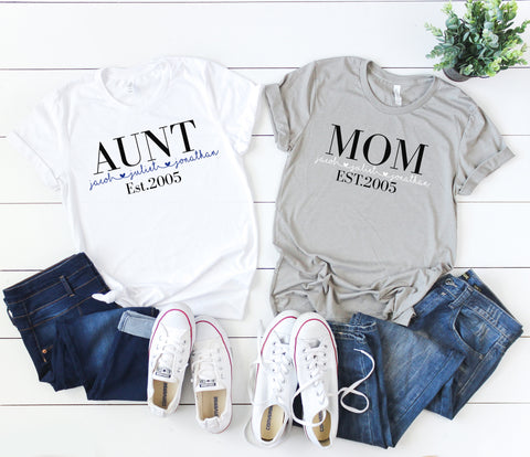 Mom Established Shirt, Mom Shirt, Mother's Day Gift, Gift for Mom, Gift for Her,
