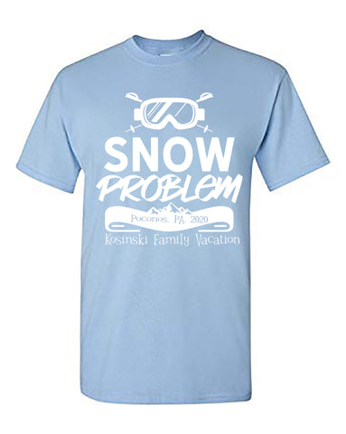 Snow Problem Matching Family Winter Vacation Shirt