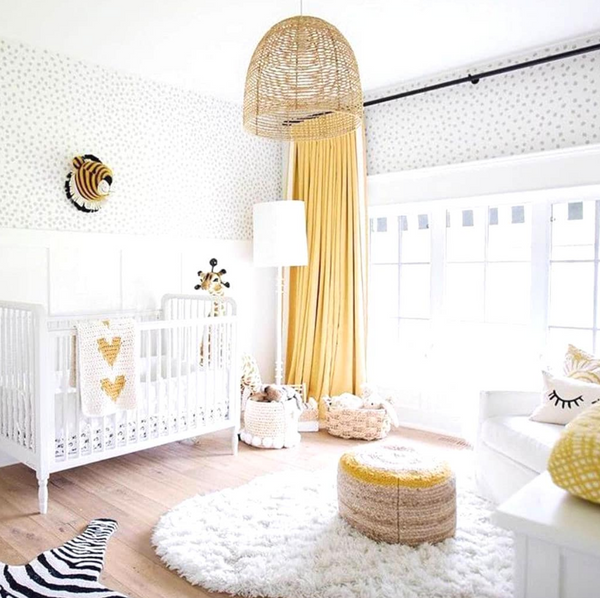 Yellow Nursery via Silky Tots