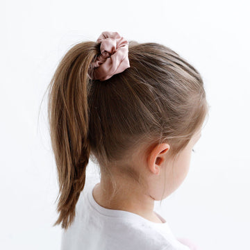 Silk Scrunchies - Blush + Grey