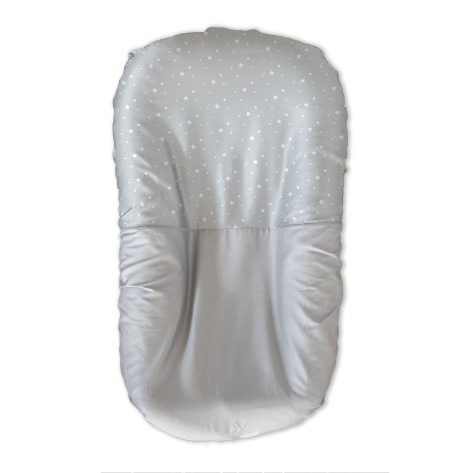 Silk Bed Nest/Bassinet Sheet - White Stars