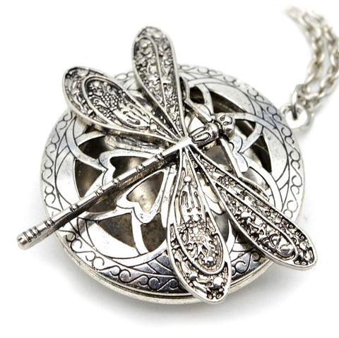 - Antique Dragonfly Aromatherapy Necklace