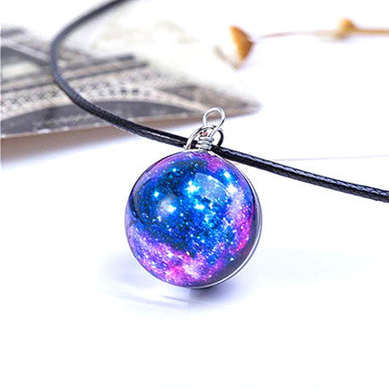 Magical Glass Galaxy Necklace (Orion Nebula)