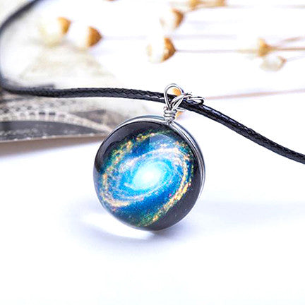 Magical Glass Galaxy Necklace (Milky Way)