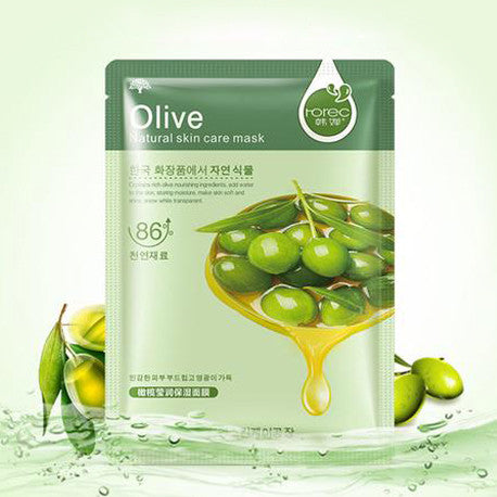 - Softening Olive Face Mask