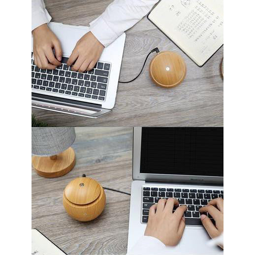 USB Essential Oil Diffuser and Humidifier with LED 130ml