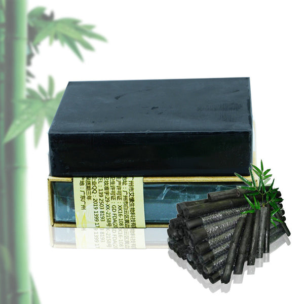 - Handmade Bamboo Charcoal Soap with Shea Butter 100g
