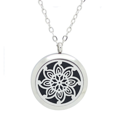 - Mandala Diffuser Necklace with Magnetic Locket