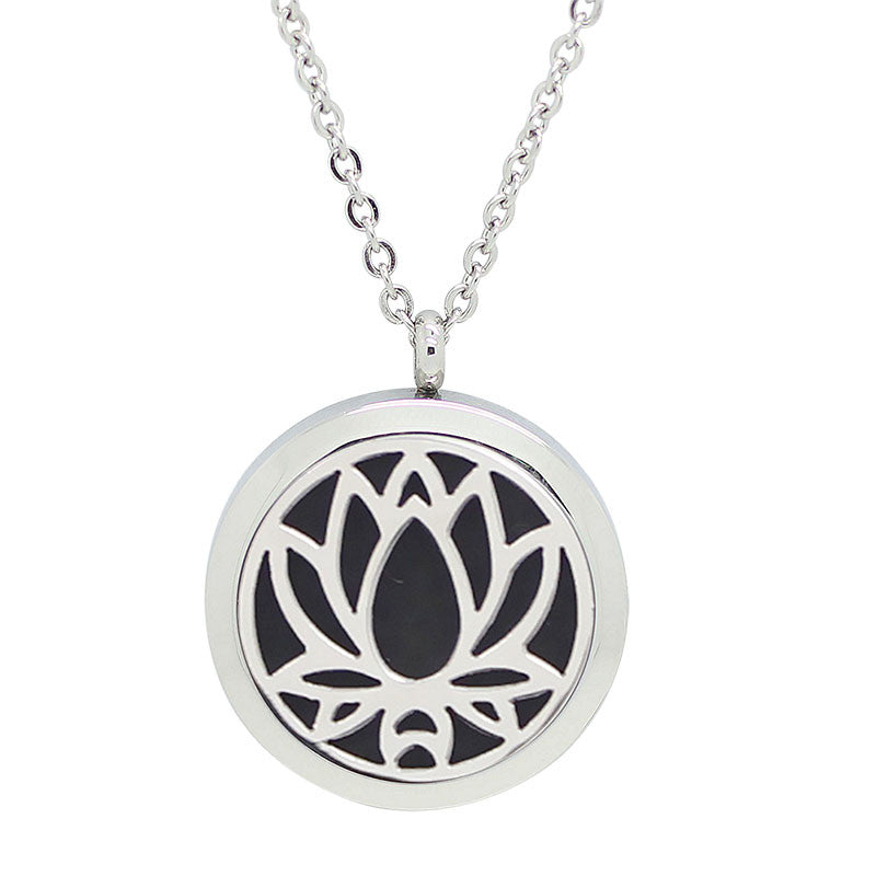 - Lotus Diffuser Necklace with Magnetic Locket