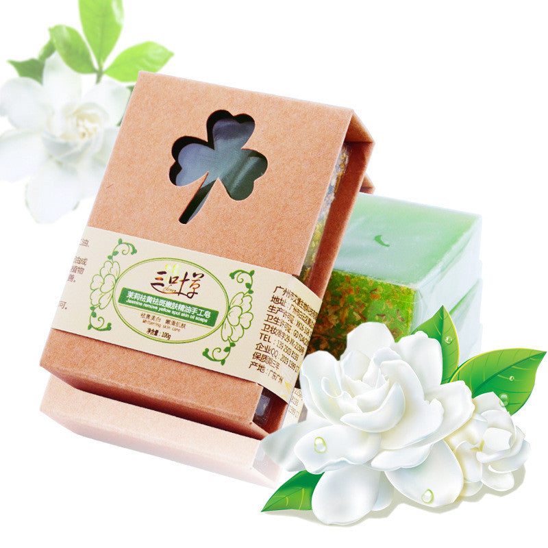 - Handmade Natural Jasmine Soap with Shea Butter 100g