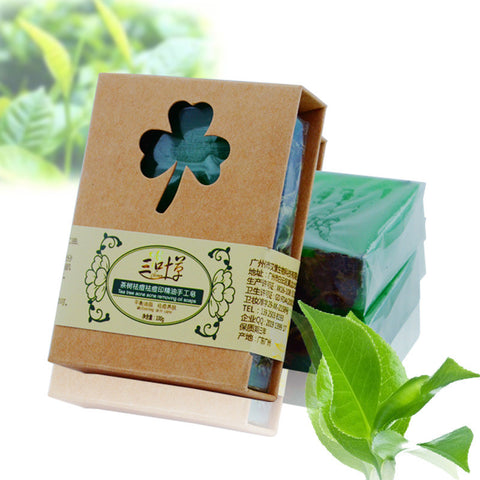 - Handmade Tea Tree Soap with Soy Oil 100g