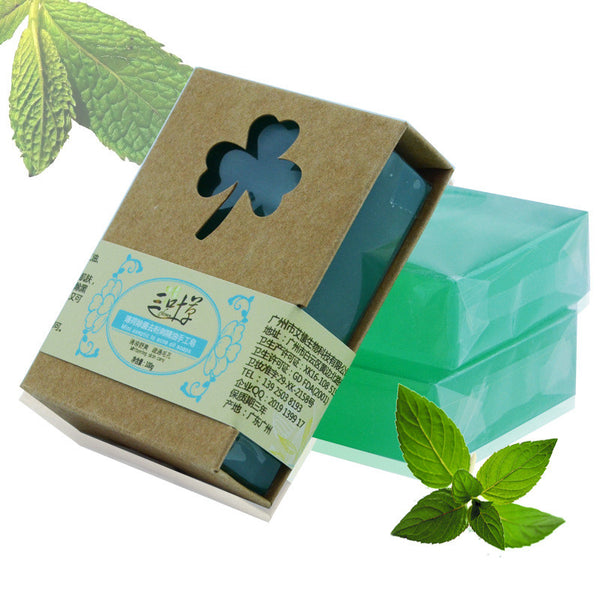 - Handmade Herbal Mint Soap with Honey 100g