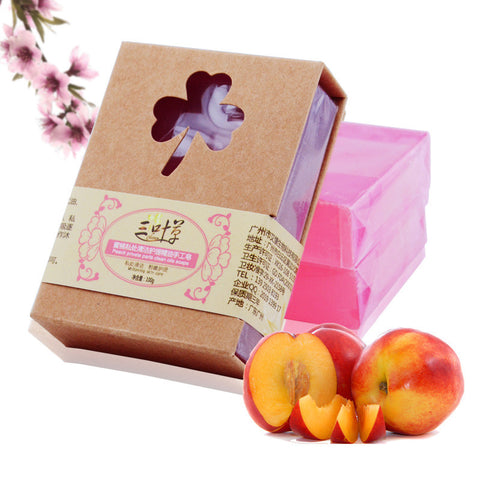 - Handmade Natural Peach Soap with Shea Butter 100g