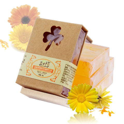 - Handmade Natural Marigold Soap with Shea Butter 100g