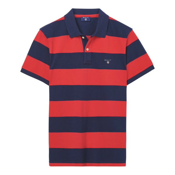 Gant-Barstripe-Polo-Red