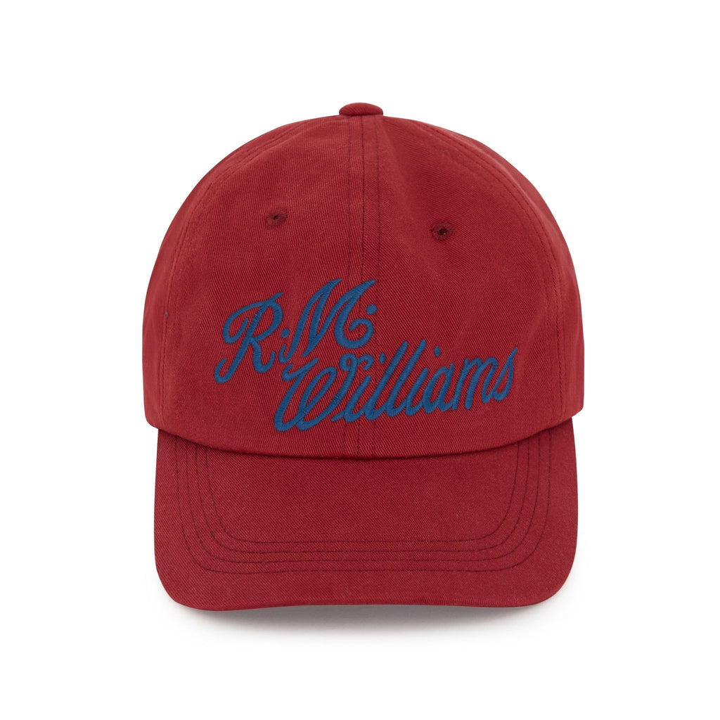 R-M-Williams-Script-Cap-Red