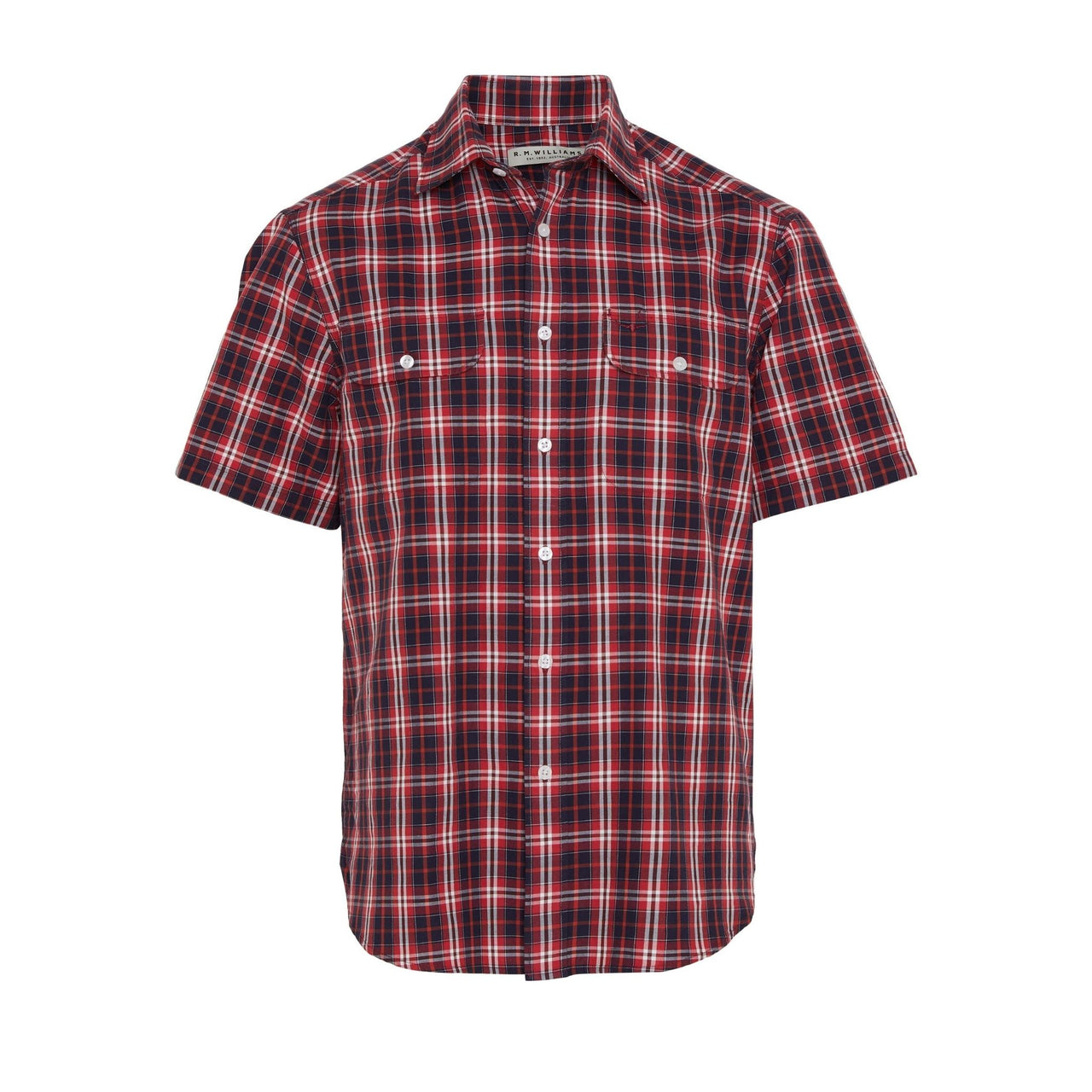 R-M-Williams-Fraser-Shirt-Red-Navy-White