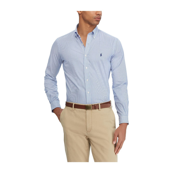 Polo-Ralph-Lauren-Stripe-Poplin-Shirt-Blue-White