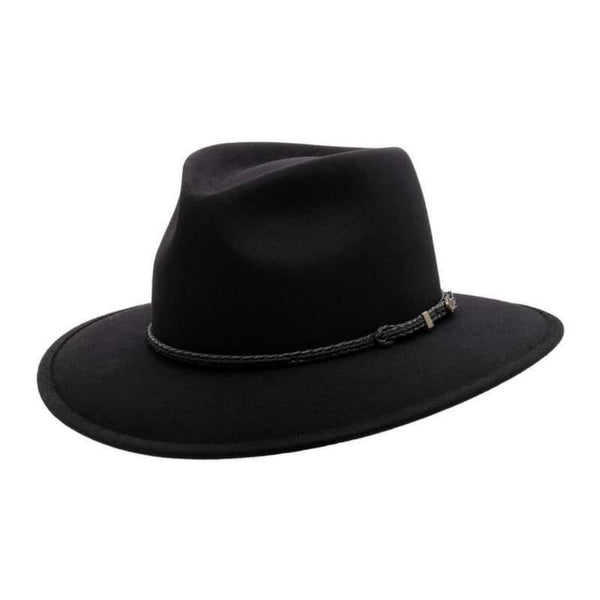 Akubra-Traveller-Squashable-Felt-Hat-Black