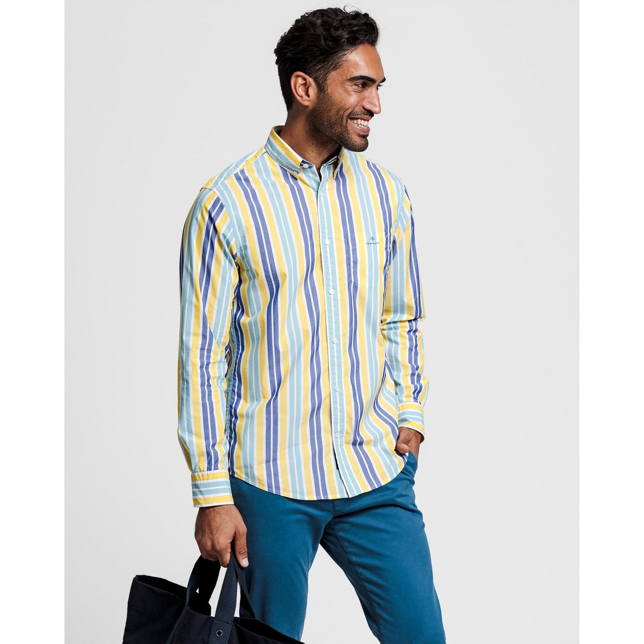 GANT-STRIPE-SPORTS-SHIRT-YELLOW
