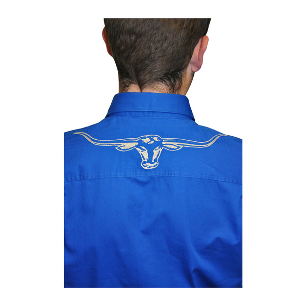 R-M-Williams-Longhorn-Shirt-Blue