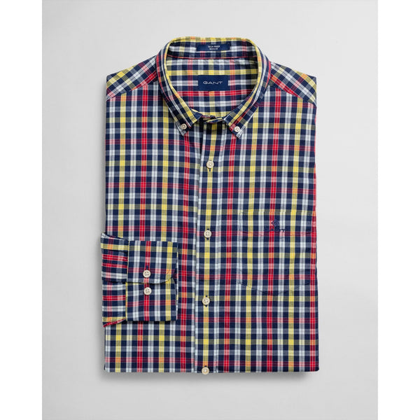 Gant-Broadcloth-Shirt-Red