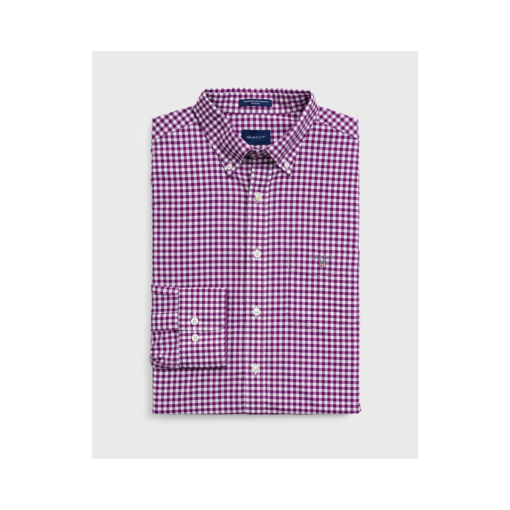 Gant-Gingham-Check-Shirt-Purple