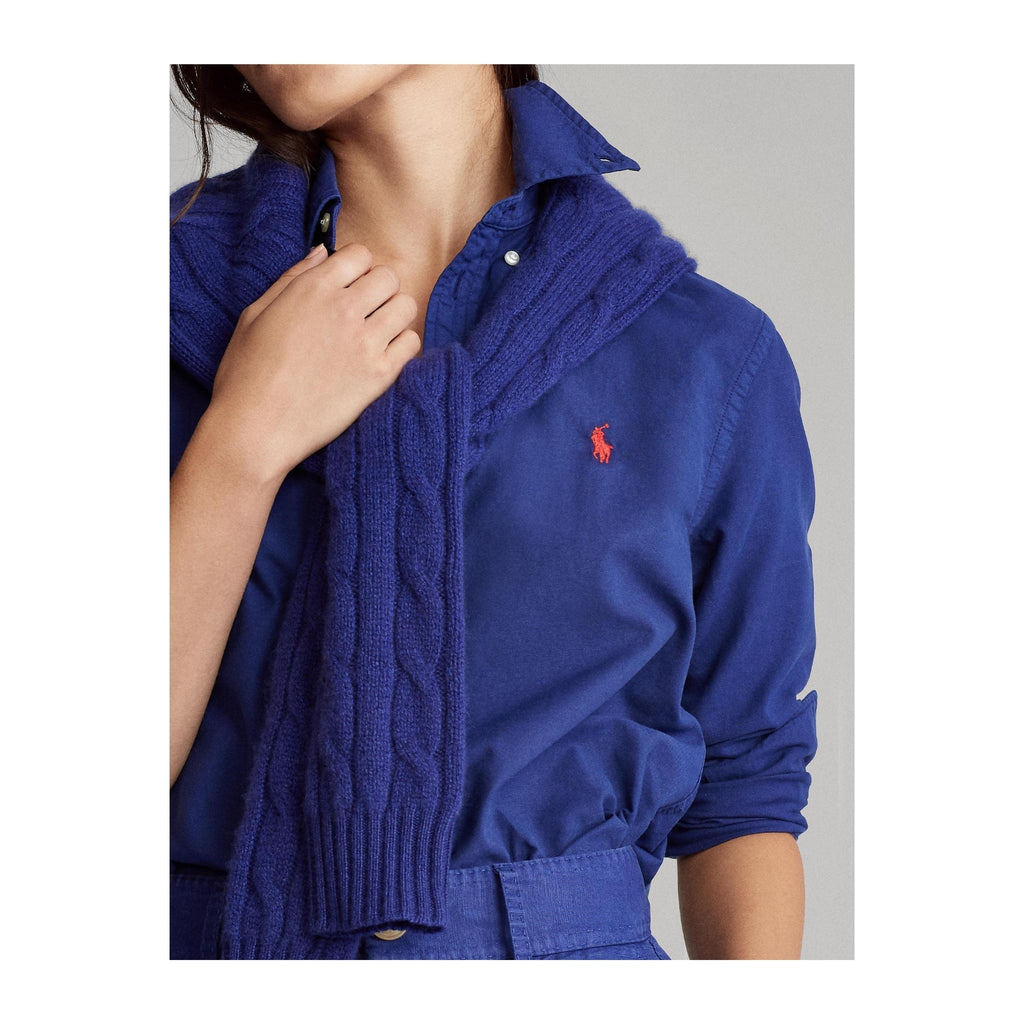 Polo-Ralph-Lauren-Cotton-Shirt-Royal-Blue